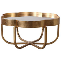 Cydney 39 inch Antiqued Gold Leaf Coffee Table Home Decor
