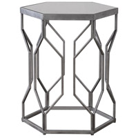 Uttermost 24742 Stellan 24 X 20 inch Silver Leaf with Gray Accent Table thumb