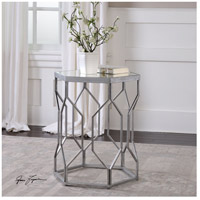 Uttermost 24742 Stellan 24 X 20 inch Silver Leaf with Gray Accent Table 24742_ls.jpg thumb