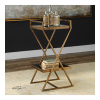 Elling 17 inch Rich Antique Golden Bronze End Table Home Decor