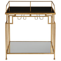 Burgess 30 inch Antiqued Gold Leaf Bar Cart Home Decor