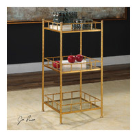 Tilly 16 inch Bright Gold Leaf Accent Shelf