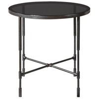 Vande 25 inch Aged Steel Accent Table Home Decor