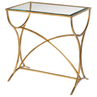 Uttermost 24796 Sarette 26 X 24 inch Antiqued Gold Accent Table