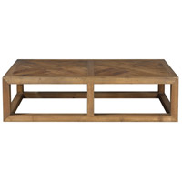 Wyatt 60 X 16 inch Light Gray Wash Coffee Table
