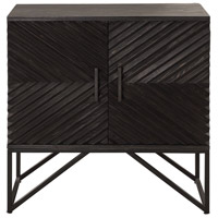 Zadie Aged Ebony and Black Accent Cabinet