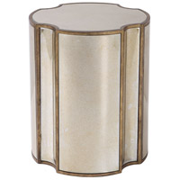 Uttermost 24888 Harlow 24 X 20 inch Antique Mirror and Antique Brass Mirrored Accent Table