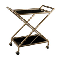 Zafina Gold Bar Cart