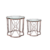 Uttermost 25019 Olavi 25 X 24 inch Antiqued Gold Leaf Accent Tables thumb