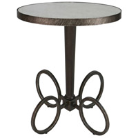 Jalen 27 X 22 inch Antique Mirror and Brushed Steel Accent Table