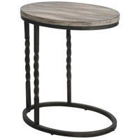 Uttermost 25320 Tauret 23 X 20 inch Textured Aged Steel and Weathered Ivory Side Table thumb