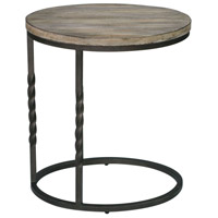 Uttermost 25320 Tauret 23 X 20 inch Textured Aged Steel and Weathered Ivory Side Table 25320_A.jpg thumb