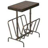 Uttermost 25326 Sonora 26 X 17 inch Burnished Brushed Iron and Distressed Warm Walnut Magazine Side Table 25326_A.jpg thumb