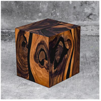 Uttermost 25410 Neri 16 X 15 inch Acacia Wood with Smooth Black Resin Accent Table alternative photo thumbnail