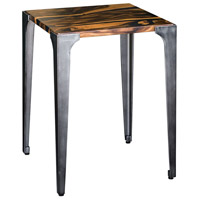 Uttermost 25411 Mira 24 X 19 inch Acacia Wood with Smooth Black Resin and Aged Steel Side Table thumb