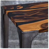 Uttermost 25411 Mira 24 X 19 inch Acacia Wood with Smooth Black Resin and Aged Steel Side Table 25411_A1.jpg thumb