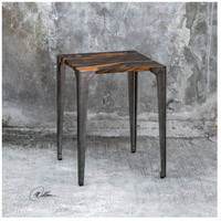Uttermost 25411 Mira 24 X 19 inch Acacia Wood with Smooth Black Resin and Aged Steel Side Table 25411_Lifestyle.jpg thumb