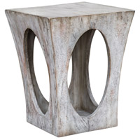 Uttermost 25427 Vernen 25 X 20 inch Aged White Accent Table