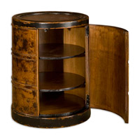 Uttermost Lawton Drum Table in Dark Cinnamon 25522