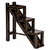 Uttermost Asher Black Accent Table in Black 25523