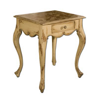 Uttermost Avril End Table in Distressed Glazed Almond 25537 photo thumbnail