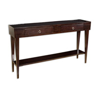 Uttermost Antero Console Table in Javanese Mango Wood Stained Dark Satin Espresso 25550