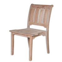 Uttermost Selva Armess Chair in Sun-Weathered Wash 25560 photo thumbnail