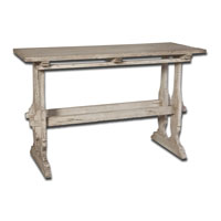 Uttermost Yvon Console Table in Whitewash 25562 photo thumbnail