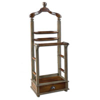 Uttermost Simeon Valet in Distresed Mocha Gray 25578
