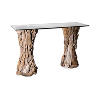 Uttermost 25582 Teak Root 54 inch Unfinished Teak Console Table photo thumbnail