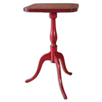 Uttermost Valent Accent Table in Red Raspberry 25585
