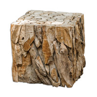 Uttermost Teak Root Bunching Cube 25592