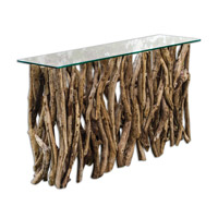 Teak Wood 59 inch Wood Console Home Decor