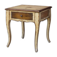 Uttermost Ruggerio End Table in Rustic Butter Pecan 25613