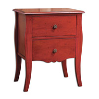 Uttermost Deja Side Table in Red 25614