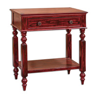 Uttermost Zilla Side Table in Red 25616
