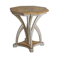 Uttermost Ranen Accent Table in Aged White 25623