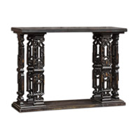 Uttermost Deakan Sofa Table in Black 25639