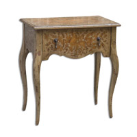 Uttermost Madigan Side Table in Honey-Stained Mindi Wood 25674