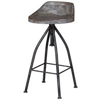 Kairu 35 inch Blackened Zinc Iron Bar Stool