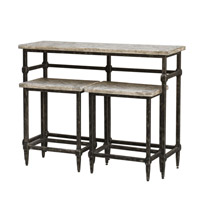 Uttermost 25728 Tameron 48 X 36 inch Blackened Zinc, Grey Glazed Driftwood Bistro Set