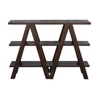 Uttermost Tafari Console Table in Worn Black Mahogany 25733