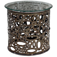 Uttermost 25770 Zama 25 inch Natural Steel Accent Table Home Decor