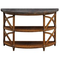 Rada 48 inch Weathered Pecan and Burnished Copper Console Table Home Decor