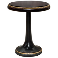 Griffith 22 inch Hickory and Dark Gray with Gold Leaf Accent Table Home Decor, Round