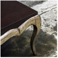 Uttermost 25784 Verena 44 X 20 inch Dark Mahogany and Antique Campagne Silver Leaf Coffee Table alternative photo thumbnail