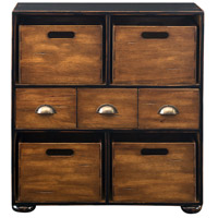 Ardusin Worn Black and Mahogany Hobby Chest