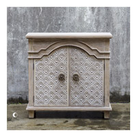 Allaire Aged Ivory Accent Cabinet