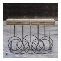Silana 52 inch Aged Steel Console Table Home Decor