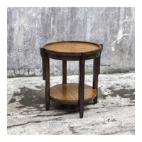 Sigmon 24 inch Hand Rubbed Black End Table Home Decor